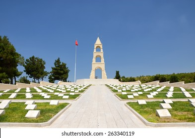 CANAKKALE, TURKEY, JULY 17, 2014: Martyrs' Memorial For 57th Infantry Regiment of Ottoman Empire, famous for defending the motherland with their lives during Gallipoli Campaign , World War One.