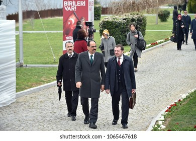 CANAKKALE, TURKEY - MARCH 18:  Presidential spokesman Ibrahim Kalinattended the Gallipoli war ceremony on March 18, 2018 in Canakkale, Turkey