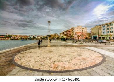 Canakkale,Turkey - February 12, 2016 : Canakkale street views. Canakkale is a beautiful city near to Canakkale bosphorus.