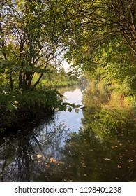 Canal in Amstelveen, October 7 2018.