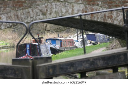 Canal Barge Boats framed