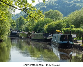 Canal boats at rest
