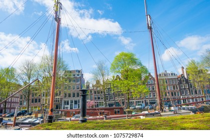 Canal in the city of Amsterdam