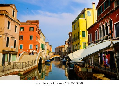 Canal cityscape in Venice, Italy