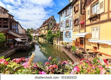 canal in Colmar, Alsace, France.
