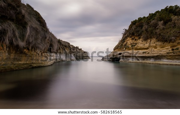 Canal D`amour(the channel of love)in Corfu Greece.