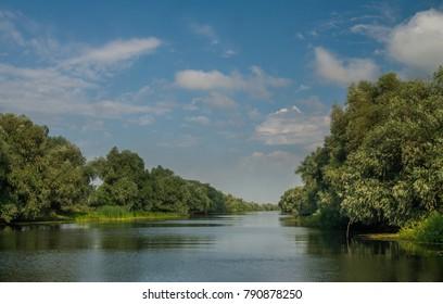 Canal in Danube Delta