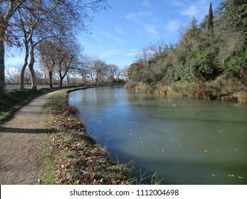 Canal du Midi at Carcassonne, France