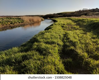 Canal with floodplain and levee bank