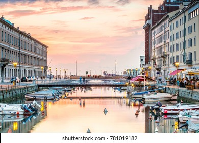 Canal grande in Trieste city center, Italy, Europe