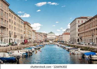 Canal Grande in Triest, Italien