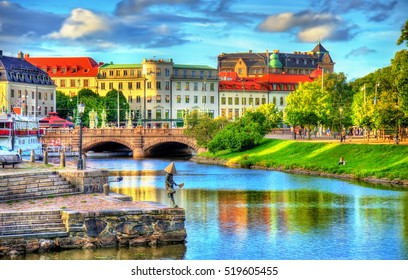 Canal in the historic centre of Gothenburg, Sweden