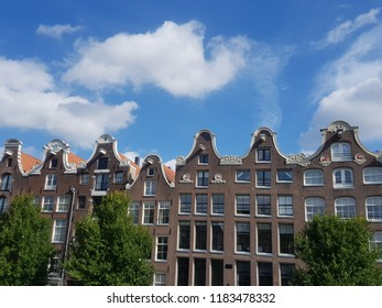 Canal houses in Amsterdam city center