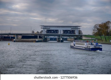 Canal Locks near Amsterdam, Holland