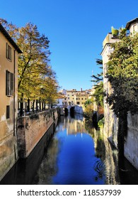 Canal in Mantua, Lombardy, Italy
