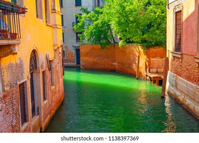 Canal and old houses in Venice