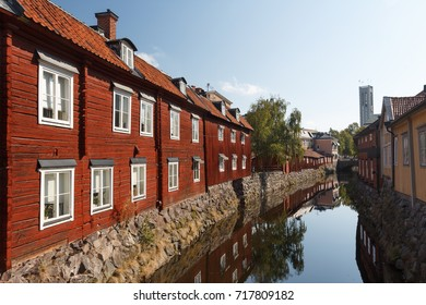 Canal in the old town of Vasteras, Sweden