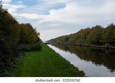 Canal on autumn day
