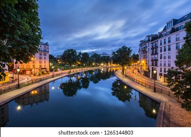 Canal saint Martin in Paris , France.