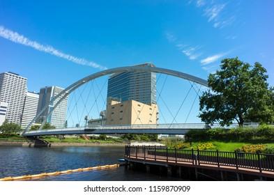 CANAL SIDE PARK AT EAST SHINAGAWA TOKYO
