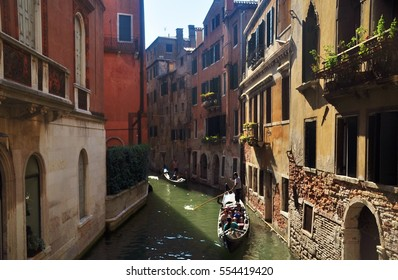 Canal of Venice, Italy in the summer season