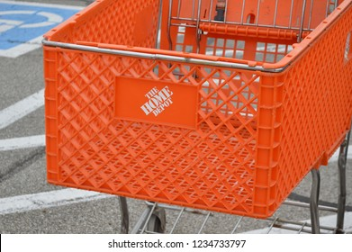 Canal Winchester, OH/USA - November 16,2018: Home Depot Location. Home Depot is the Largest Home Improvement Retailer in the US