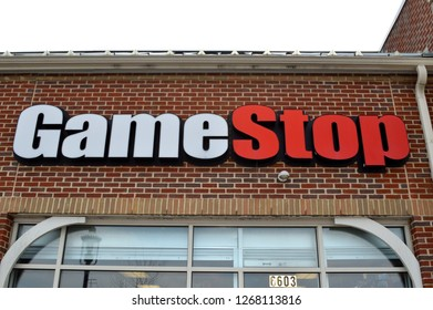Canal Winchester,OH/USA November 24, 2018: GameStop is an American video game, consumer electronics, and wireless services retailer.