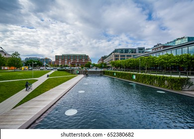Canal at The Yards Park in Washington, DC.