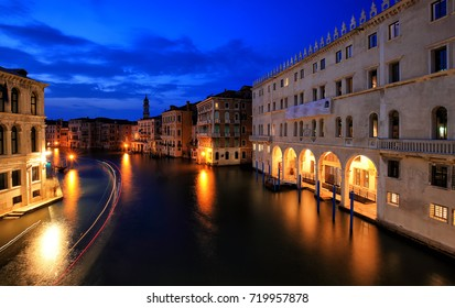 Canale Grande at night, Venice Italy
