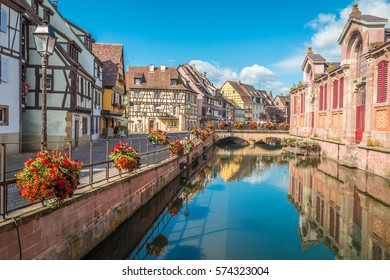 Canals of Colmar in Alsace region France