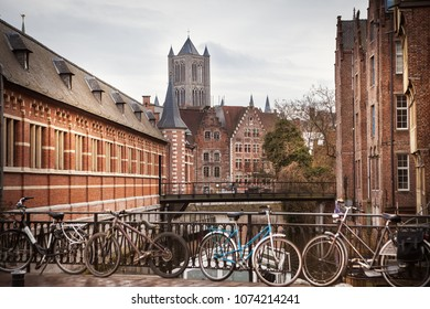 Canals in Ghent, Belgium, Gent old town
