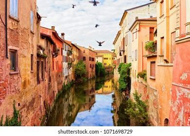 Canals at the old city of Mantua, Lombardy, Italy
