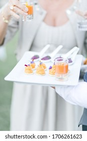 Canape and appetizers during a reception