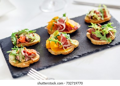 canape on the holiday table