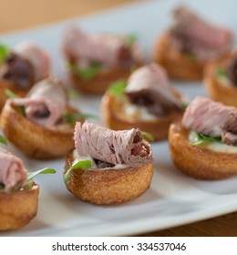 Canapes and appetizers