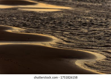 Canarvon, play with the light, sunrise, beach, waves
