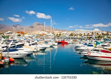Canary Charter Yacht Club in Costa Adeje, Tenerife, Spain.