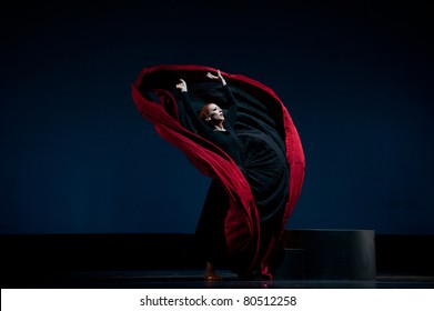 CANARY ISLANDS - 5 JULY: Blakeley White from Martha Graham Dance Company, from US, performing onstage during Festival of Theater, Music and Dance July 5, 2011 in Las Palmas, Canary Islands, Spain