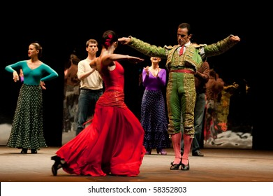CANARY  ISLANDS - JULY 30: Company Antonio Gades from Spain performs Carmen during the Theater, Music and Dance Festival July 30, 2010 in Canary Islands