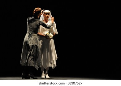 CANARY  ISLANDS - JULY 31: Company Antonio Gades from Spain performing Blood Wedding based on Fredrico Garcia Lorca tragedy during the Theater, Music and Dance Festival July 31, 2010 in Canary Islands