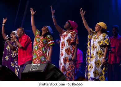 CANARY ISLANDS - NOVEMBER 11: Creole Choir of Cuba, musical treasures from Haiti, Dominica and Cuba,  performing onstage during Womad in Las Palmas November 11, 2010 in Canary Islands, Spain