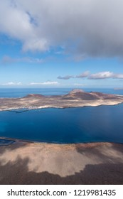 Canary Islands, Spain. Panoramic view from Mirador del Rio, Lanzarote island