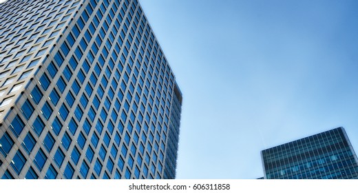 Canary Wharf financial district buildings in London - UK