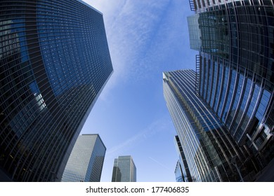 Canary Wharf financial district in London.