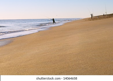 Canaveral National Seashore in morning with lots of copyspace
