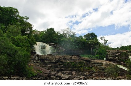 Canayma national park in Venezuela is full of waterfalls.