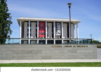 CANBERRA, AUSTRALIA -12 DEC 2016- View of the building of The National Library of Australia (NLA) located in the Australian Capital Territory.