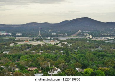 CANBERRA, AUSTRALIA -12 DEC 2016- Panoramic view of the city of Canberra in the Australia Capital Territory (ACT), Australia.