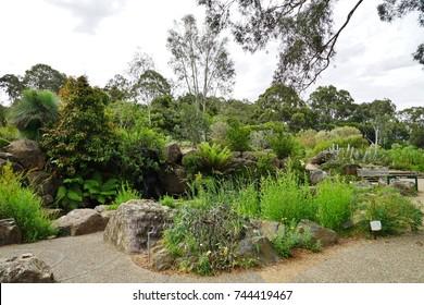 CANBERRA, AUSTRALIA -12 DEC 2016- The Australian National Botanic Garden in Canberra, in the Australian Capital Territory.