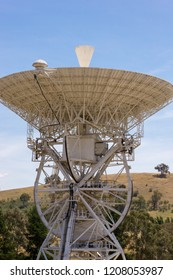 Canberra, Australia - December 19th 2013: Decommissioned and historical DSS-46 Earth station antenna at the Canberra Deep Space Communication Complex (CDSCC)